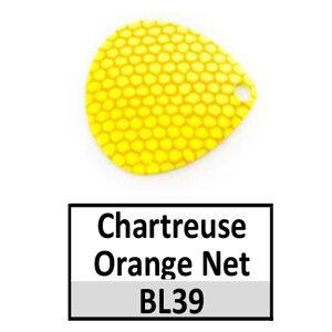 Size 3½ Colorado Striped/2 Tone Basic Spinner Blades – chartreuse-orange net BL39