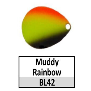 Size 4 Colorado Rainbow/Tricolored Basic Spinner Blades – Muddy Rainbow BL42/BLN11
