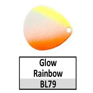 Size 4 Colorado Rainbow/Tricolored Basic Spinner Blades – Glow Rainbow BL79/BL36