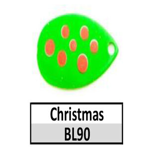 Size 5 Indiana Multi Dotted Basic Spinner Blades – Christmas BL90