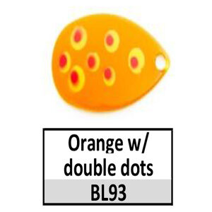 Size 5 Indiana Multi Dotted Basic Spinner Blades – Orange w/ Double dots BL93
