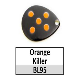Size 5 Indiana Multi Dotted Basic Spinner Blades – Orange Killer BL95-BL125