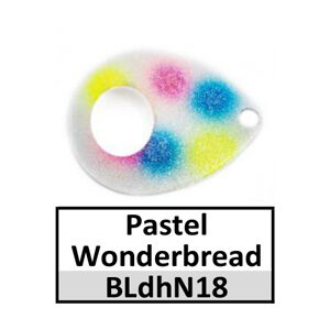 Size 4 Colorado Double Hole Custom Painted Spinner Blades – pastel wonderbread BLdhN18