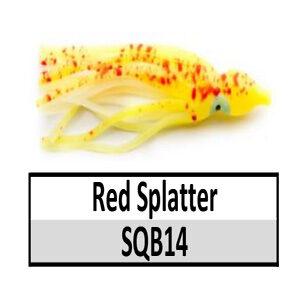 Soft Plastic Squid Bodies – Red Splatter