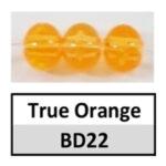 Translucent true orange