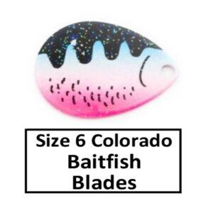 Size 6 Colorado Baitfish-Perch Pattern Spinner Blades