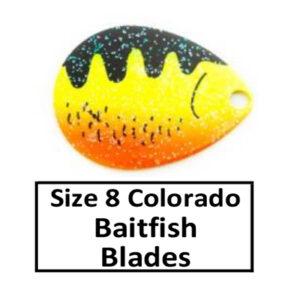 Size 8 Colorado Baitfish-Perch Pattern Spinner Blades
