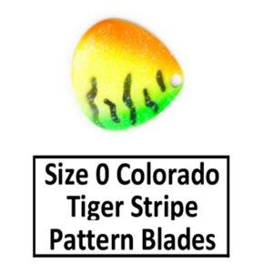 Size 0 Colorado Tiger Stripe Pattern Basic Spinner Blades