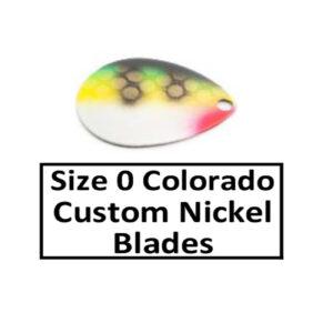 Size 0 Colorado Nickel Base Custom Painted Spinner Blades