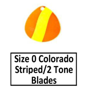 Size 0 Colorado Striped/2 Tone Basic Spinner Blades
