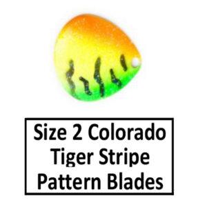 Size 2 Colorado Tiger Stripe Pattern Basic Spinner Blades