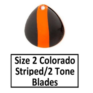 Size 2 Colorado Striped/2 Tone Basic Spinner Blades