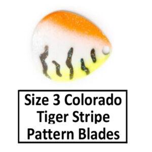 Size 3 Colorado Tiger Stripe Pattern Basic Spinner Blades