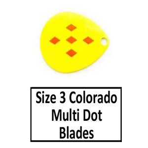 Size 3 Colorado Multi Dotted-Eyed Spinner Blades