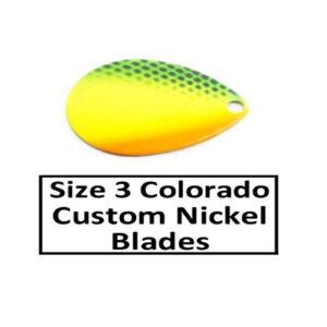 Size 3 Colorado Nickel Base Custom Painted Spinner Blades