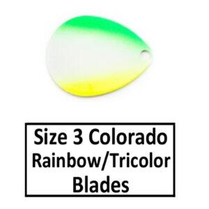 Size 3 Colorado Rainbow/Tricolor Spinner Blades