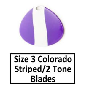 Size 3 Colorado Striped/2 Tone Basic Spinner Blades