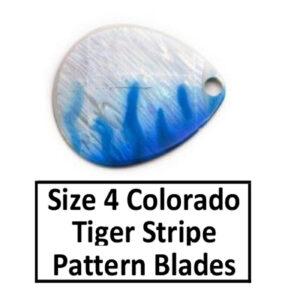 Size 4 Colorado Tiger Stripe Pattern Basic Spinner Blades