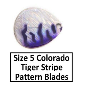 Size 5 Colorado Tiger Stripe Pattern Basic Spinner Blades