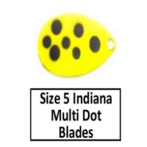Size 5 Indiana Multi Dotted-Eyed Spinner Blades