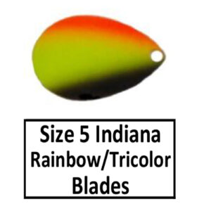 Size 5 Indiana Rainbow/Tricolor Spinner Blades