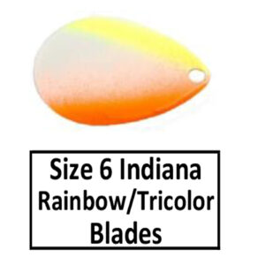 Size 6 Indiana Rainbow/Tricolor Spinner Blades
