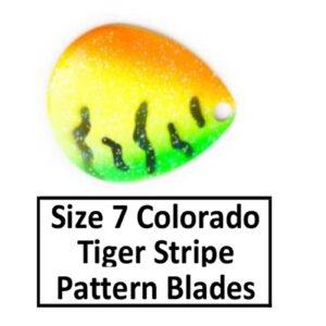 Size 7 Colorado Tiger Stripe Pattern Basic Spinner Blades