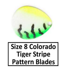 Size 8 Colorado Tiger Stripe Pattern Basic Spinner Blades