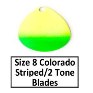 Size 8 Colorado Striped/2 Tone Basic Spinner Blades