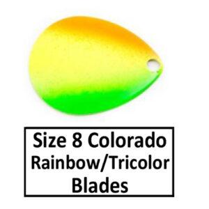 Size 8 Colorado Rainbow/Tricolor Spinner Blades