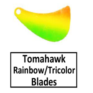 Tomahawk Rainbow/Tricolor Spinner Blades