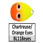 BL118eyes Chartreuse/Orange w/ eyes