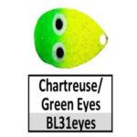 BL31eyes Chartreuse/Green w/ eyes
