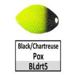 BLdrt5 Black/Chartreuse Pox