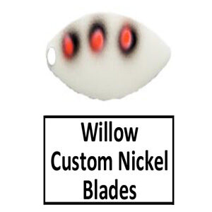 Willow Nickel Base Custom Painted Spinner Blades
